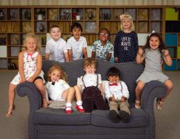 back row L to R: - Mason, Ismail, Zech and Scarlett. Sitting L to R: - Lily, Lois, Callen, Sajaan, Italiah