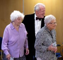 left to right: - Sylvia, Ken and Barbara.