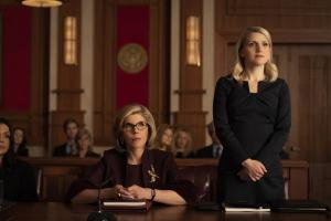 """Gang Goes To War"" -- Episode #404 -- Pictured (l-r): Christine Baranski as Diane Lockhart; Annaleigh Ashford as Georgette Stoddard of the CBS All Access series THE GOOD FIGHT. Photo Cr: Patrick Harbron/CBS ©2019 CBS Interactive, Inc. All Rights Reserved."
