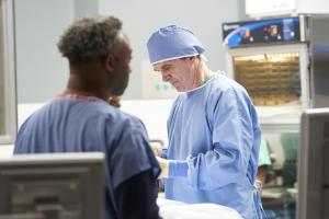 "NEW AMSTERDAM -- ""14 Years, 2 Months, 8 Days"" Episode 212 -- Pictured: William Grant as a doctor -- (Photo by: Karolina Wojtasik/NBC)"