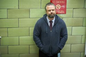 "NEW AMSTERDAM -- ""14 Years, 2 Months, 8 Days"" Episode 212 -- Pictured: Tyler Labine as Dr. Iggy Frome -- (Photo by: Karolina Wojtasik/NBC)"