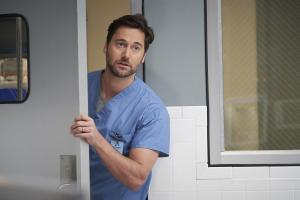"NEW AMSTERDAM -- ""14 Years, 2 Months, 8 Days"" Episode 212 -- Pictured: Ryan Eggold as Dr. Max Goodwin -- (Photo by: Karolina Wojtasik/NBC)"