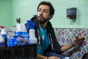 "Ramy -- ""A Black Spot on the Heart"" - Episode 103 - So let me get this straight, you donít do drugs, but youíll have sex with women youíre not married toÖ? Thatís not nuanced, itís hypocritical. Ramy (Ramy Youssef), shown. (Photo by: Paul Schiraldi/Hulu)"