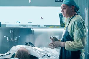 Ep1.  Head Pathologist Dr. Ian Peterson (Michael Healey) expresses his displeasure at the new coroner Dr. Jenny Cooper (Serinda Swan).