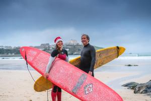 Father & Daughter surfere Keith & Katie