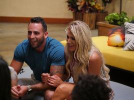 "TEMPTATION ISLAND -- ""Finale Bonfire Part I"" Episode 110 --  Pictured: (l-r) Johnny Alexander, Kady Krambeer -- (Photo by: Mario Perez/USA Network)"