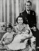 Mandatory Credit: Photo by Everett/Shutterstock (10296203a).British Royal Family. From left: future Prince of Wales Prince Charles, future Queen of England Princess Elizabeth, future Princess Royal of England Princess Anne, Prince Philip, Duke of Edinburgh, London, England, 1951..Historical Collection