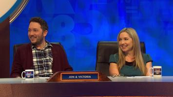 Jimmy Carr returns to host a brand new episode of 8 Out of 10 Cats Does Countdown. Sean Lock and Kevin Bridges take on Jon Richardson and Victoria Coren Mitchell in the classic words and numbers quiz. Spencer Jones joins Susie Dent in Dictionary Corner, while maths whizz Rachel Riley looks after the numbers.