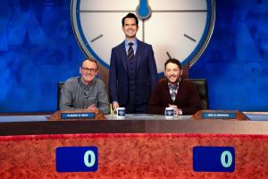 8 Out of 10 Cats Does Countdown: - Presenter Jimmy Carr with Jon Richardson and Sean Lock