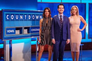 8 Out of 10 Cats Does Countdown: - Presenter Jimmy Carr with Rachel Riley and Susie Dent