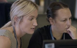 Jo Parr Daniels and Detective Constable Donna Kay.