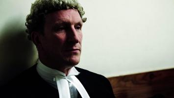 William Mousley QC in wig and gown