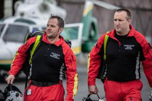 Pictured: Dr Doogie Howes, Paramedic Lee Salmon