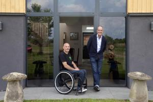 Pictured: Kevin McCloud with Owner