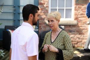 Marnie has to explain herself quickly when James' surprise date shows up..Embargoed until 17 September