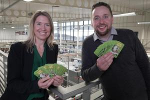 Pictured: Matt & Beth at St Austell Printing Company where Top Trumps are manufactured.