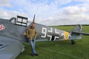 Pictured: James Holland with Me109 Buchon