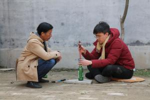 China.  Live Streaming Farmer.  Phil Wang and Wang Yekun.