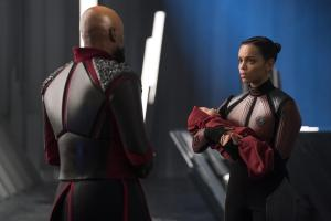 "KRYPTON -- ""Ghost in the Fire"" Episode 202 -- Pictured: Georgina Campbell as Lyta-Zod -- (Photo by: Steffan Hill/SYFY)"