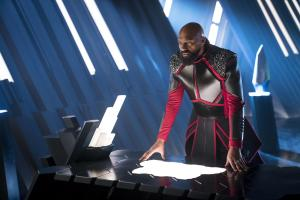 "KRYPTON -- ""Ghost in the Fire"" Episode 202 -- Pictured: Colin Salmon as General Zod -- (Photo by: Steffan Hill/SYFY)"
