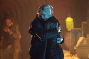 "KRYPTON -- ""Ghost in the Fire"" Episode 202 -- Pictured: (l-r) Wallis Day as Nyssa-Vex, Ian McElhinney as Val-El -- (Photo by: Steffan Hill/SYFY)"