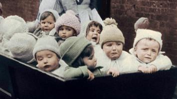 Collateral victims: the war left 6 million orphans in Europe.