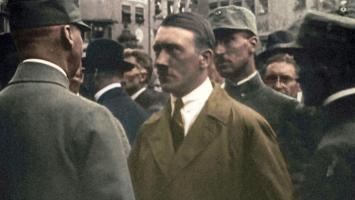 September 1923, just before the failed Beer Hall Putsch. Adolf Hitler is then the ambitious leader of the young Nazi party.