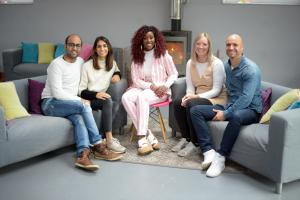 Scarlette with Anaeka and Ravi Nathwani and Emma Roberts and Matt Moore