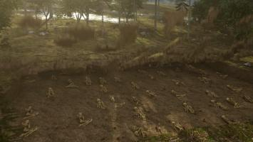 Ep2.  CGI.  15th century hillside grave of 118 Aztec men and women buried near Metepec.