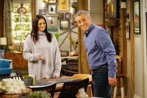 """King For a Day"" -- Adam is determined to figure out what Andi\'s hiding when he discovers she\'s been keeping secrets from him for his own good, on MAN WITH A PLAN, Monday, April 16 (8:30-9:00 PM, ET/PT) on the CBS Television Network. Pictured (L-R) Liza Snyder as Andi Burns and Matt LeBlanc as Adam Burns  Photo: Sonja Flemming/CBS ÿ¿ÿ©2018 CBS Broadcasting, Inc. All Rights Reserved"