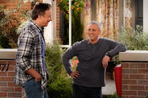 """April Fools"" -- When Adam insists that pranks are harmless fun, Andi creates an elaborate hoax to teach him a lesson, on MAN WITH A PLAN, Monday, April 9 (8:30-9:00 PM, ET/PT) on the CBS Television Network. Pictured (L-R) Kevin Nealon as Don Burns,   and Matt LeBlanc  as Adam Burns Photo: Robert Voets/CBS ÿ¿ÿ©2018 CBS Broadcasting, Inc. All Rights Reserved"
