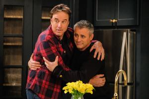 """Family Business"" -- After struggling to find work, Andi (Liza Snyder) proposes an idea for her and Adam (Matt LaBlanc) to go into business together. Also, Adam tackles a challenging renovation of Joe (Stacy Keach) and Bev\'s (Swoosie Kurtz) kitchen on MAN WITH A PLAN, Monday, May 21 (8:30-9:00 PM, ET/PT) on the CBS Television Network.   Pictured (L-R)  Kevin Nealon as Don and Matt LeBlanc as Adam Photo: Darren Michaels/CBS ÿ¿ÿ©2018 CBS Broadcasting, Inc. All Rights Reserved"