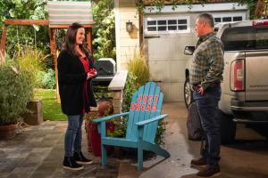 """We Don\'t Need Another Hero"" - Adam gets jealous when Teddy names Andi as his hero for a school essay, on MAN WITH A PLAN, Monday, April 15 (8:30-9:00 PM, ET/PT) on the CBS Television Network.  Pictured (L-R) Liza Snyder as Andi Burns and Matt LeBlanc as Adam Burns  Photo: Monty Brinton/CBS ÿ¿ÿ©2018 CBS Broadcasting, Inc. All Rights Reserved"
