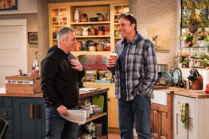 """We Don\'t Need Another Hero"" - Adam gets jealous when Teddy names Andi as his hero for a school essay, on MAN WITH A PLAN, Monday, April 15 (8:30-9:00 PM, ET/PT) on the CBS Television Network.  Pictured (L-R)  Matt LeBlanc as Adam Burns and Kevin Nealon as Don  Photo: Monty Brinton/CBS ÿ¿ÿ©2018 CBS Broadcasting, Inc. All Rights Reserved"