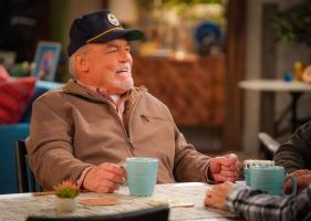 """Cabin Fever"" -- When Adam accidentally invites Andi on the annual guys\' trip, he tries to un-invite her, which only makes matters worse, on MAN WITH A PLAN, Monday, April 22 (8:30-9:00 PM, ET/PT) on the CBS Television Network. Pictured   Stacy Keach as Joe Burns  Kevin  Photo: Sonja Flemming/CBS ÿ¿ÿ©2018 CBS Broadcasting, Inc. All Rights Reserved"