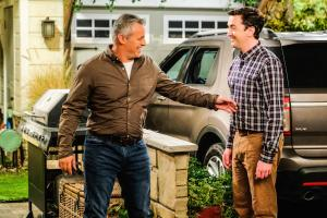 "Clean Country Living"" - Adam recruits Marcy to put Andi\'s snooty sister, Kelly (Jessica St. Clair), in her place when she comes for a visit, on MAN WITH A PLAN, Monday, April 29 (8:30-9:00 PM, ET/PT) on the CBS Television Network.   Pictured (L-R) Matt LeBlanc as Adam Burns and Matt Cook as Lowell   Photo: Darren Michaels/CBS ÿ¿ÿ©2018 CBS Broadcasting, Inc. All Rights Reserved"