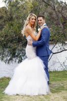 .PHOTOGRAPHS BY NIGEL WRIGHT. +61 409363339..MARRIED AT FIRST SIGHT (S4)..COPYRIGHT CHANNEL NINE AND ENDEMOLSHINE AUSTRALIA...OCTOBER 2016..THIS PICTURE SHOWS:...THE WA DOUBLE WEDDING OF:..SHARON MARSH & NICK FURPHY (BLACK SUIT) ..MICHELLE MARSH & JESSE KONSTANTIOFF (BLUE SUIT).....