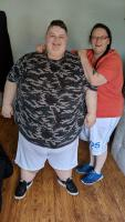 AJ & SJ standing together - 23 years old, 41 stone Shut Ins: Britians Fattest People S2 Ch4