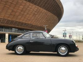 The restored Porsche 365 at the reveal. (National Geographic/Renegade Pictures)
