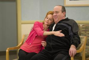 """I See Love"" -- Mike and Molly gather with family and friends for a momentous occasion and reminisce about everything that led to this point, on the series finale of MIKE & MOLLY, Monday, May 16 (8:30-9:00 PM, ET/PT) on the CBS Television Network.Pictured L-R: Swoosie Kurtz as Joyce Flynn and Louis Mustillo as Vince Photo: Hopper Stone/Warner Bros. Entertainment Inc. ©2016 WBEI. All rights reserved."