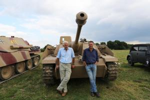 Pictured: Mike Gibb and James Holland with Stug III