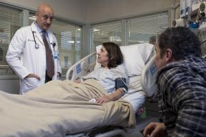 "NEW AMSTERDAM -- ""Pilot"" Episode 101 -- Pictured: (l-r) Anupam Kher as Dr. Vijay Kapoor, Rose Bianco Syzmanski as Patricia -- (Photo by: Francisco Roman/NBC)"