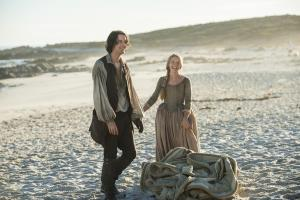 "OUTLANDER - SEASON 3 - EPISODE 311 -""Uncharted""..César Domboy, Lauren Lyle."