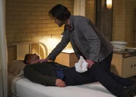 "Supernatural -- ""Ouroboros"" -- Image Number: SN1414A_0266b.jpg -- Pictured (L-R): Jensen Ackles as Dean and Jared Padalecki as Sam -- Photo: Shane Harvey/The CW -- ÿ¿ÿ© 2019 The CW Network, LLC. All Rights Reserved."