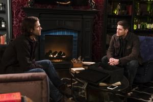 "Supernatural -- ""Absence"" -- Image Number: SN1418a_0029b.jpg -- Pictured (L-R): Jared Padalecki as Sam and Jensen Ackles as Dean -- Photo: Katie Yu/The CW -- ÿ¿ÿ© 2019 The CW Network, LLC. All Rights Reserved."