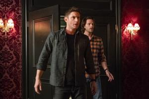 "Supernatural -- ""Absence"" -- Image Number: SN1418a_0152b.jpg -- Pictured (L-R): Jensen Ackles as Dean and Jared Padalecki as Sam -- Photo: Katie Yu/The CW -- ÿ¿ÿ© 2019 The CW Network, LLC. All Rights Reserved."