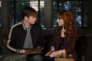 "Supernatural -- ""Absence"" -- Image Number: SN1418a_0289b.jpg -- Pictured (L-R): Alexander Calvert as Jack and Ruth Connell as Rowena -- Photo: Katie Yu/The CW -- ÿ¿ÿ© 2019 The CW Network, LLC. All Rights Reserved."