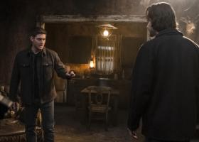 "Supernatural -- ""Absence"" -- Image Number: SN1418b_0001b.jpg -- Pictured (L-R): Jensen Ackles as Dean and Jared Padalecki as Sam -- Photo: Katie Yu/The CW -- ÿ¿ÿ© 2019 The CW Network, LLC. All Rights Reserved."