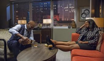 Pictured (l-r): Delroy Lindo as Adrian Boseman; Audra McDonald as Liz Reddick-Lawrence