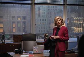 """The One About the Recent Troubles"" -- Episode 301 -- Pictured: Christine Baranski as Diane Lockhart of the CBS All Access series THE GOOD FIGHT. Photo Cr: Patrick Harbron/CBS ÿ¿ÿ©2018 CBS Interactive, Inc. All Rights Reserved."